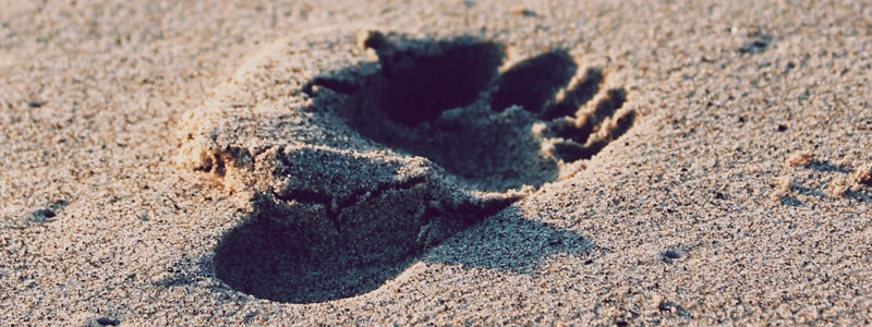 Strømper til diabetiker - fødder i blødt sand