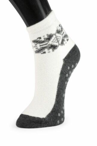Angora sokker med gummi knopper